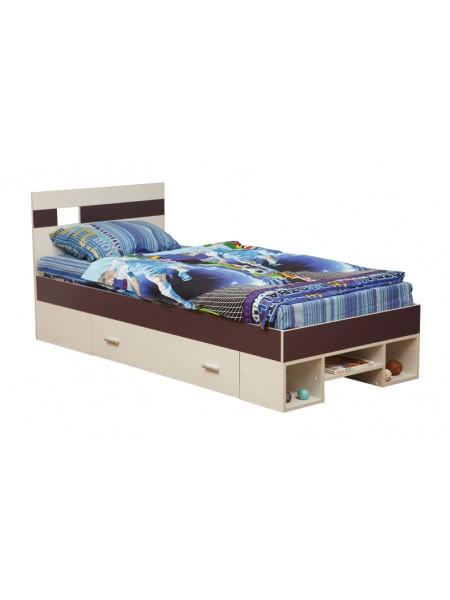 Кровать 06.296 Некст (вудлайн кремовый/баклажан)