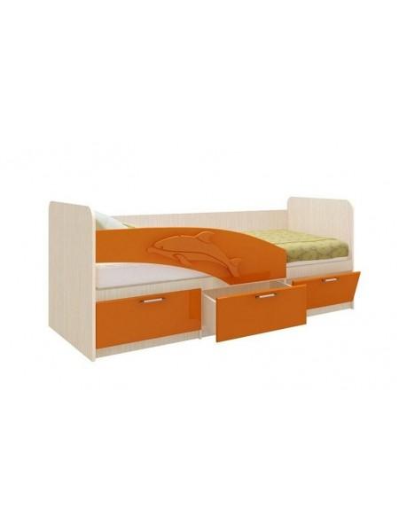 Кровать 06.222 Дельфин (оранжевый)